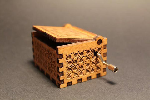 Image of Engraved Wooden Music Box Over The Rainbow