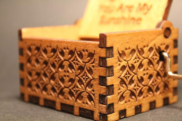 Engraved Wooden Music Box My Heart Will Go On