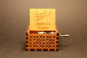 Engraved Wooden Music Box -  California Dreaming