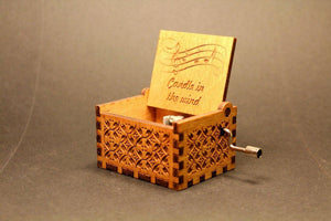 Engraved Wooden Music Box -  Candle In The Wind