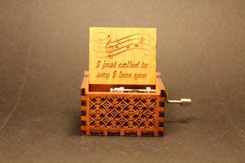 Engraved Wooden Music Box -  I Just Called To Say I Love You
