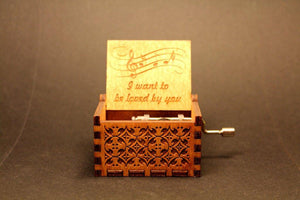 Engraved Wooden Music Box -  I Want To Be Loved By You