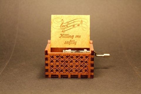 Image of Engraved Wooden Music Box -  Killing Me Softly