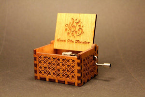 Engraved Wooden Music Box -  Love Me Tender