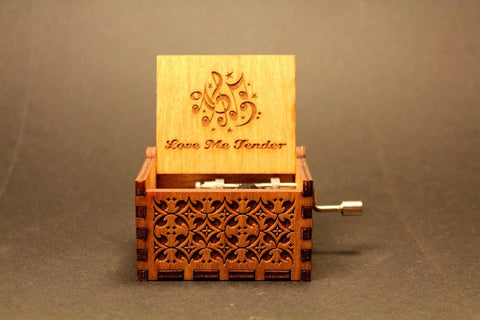 Image of Engraved Wooden Music Box -  Love Me Tender