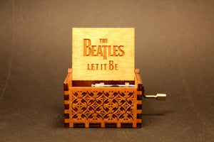 Engraved Wooden Music Box -  The Beatles (Let It Be)