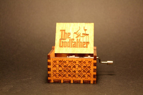 Image of The Godfather Theme Song Handmade Wooden Music Box (Limited edition)
