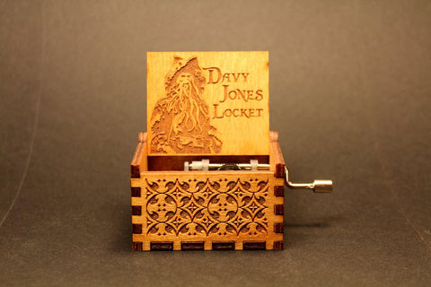 Image of Engraved wooden music box Davy Jones Locket