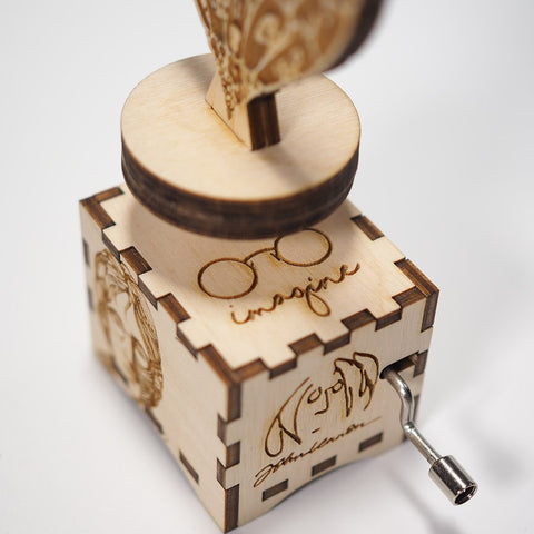 "John Lennon ""Imagine"" Song - Handmade Wooden Music Box (Limited Edition)"