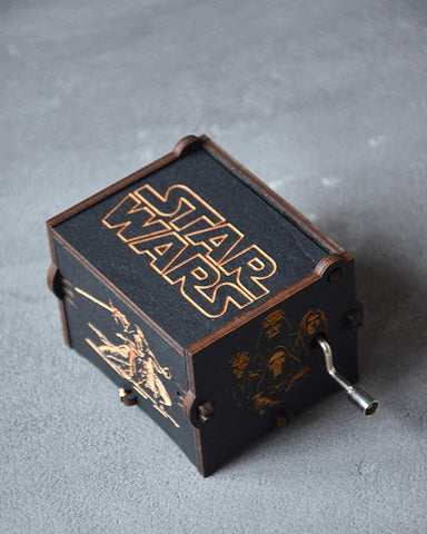 Image of Exclusive Black Onyx Star Wars Collectible Wooden Music Box