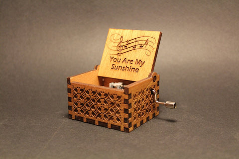 Image of Engraved wooden music box You Are My Sunshine - Jimmie Davis