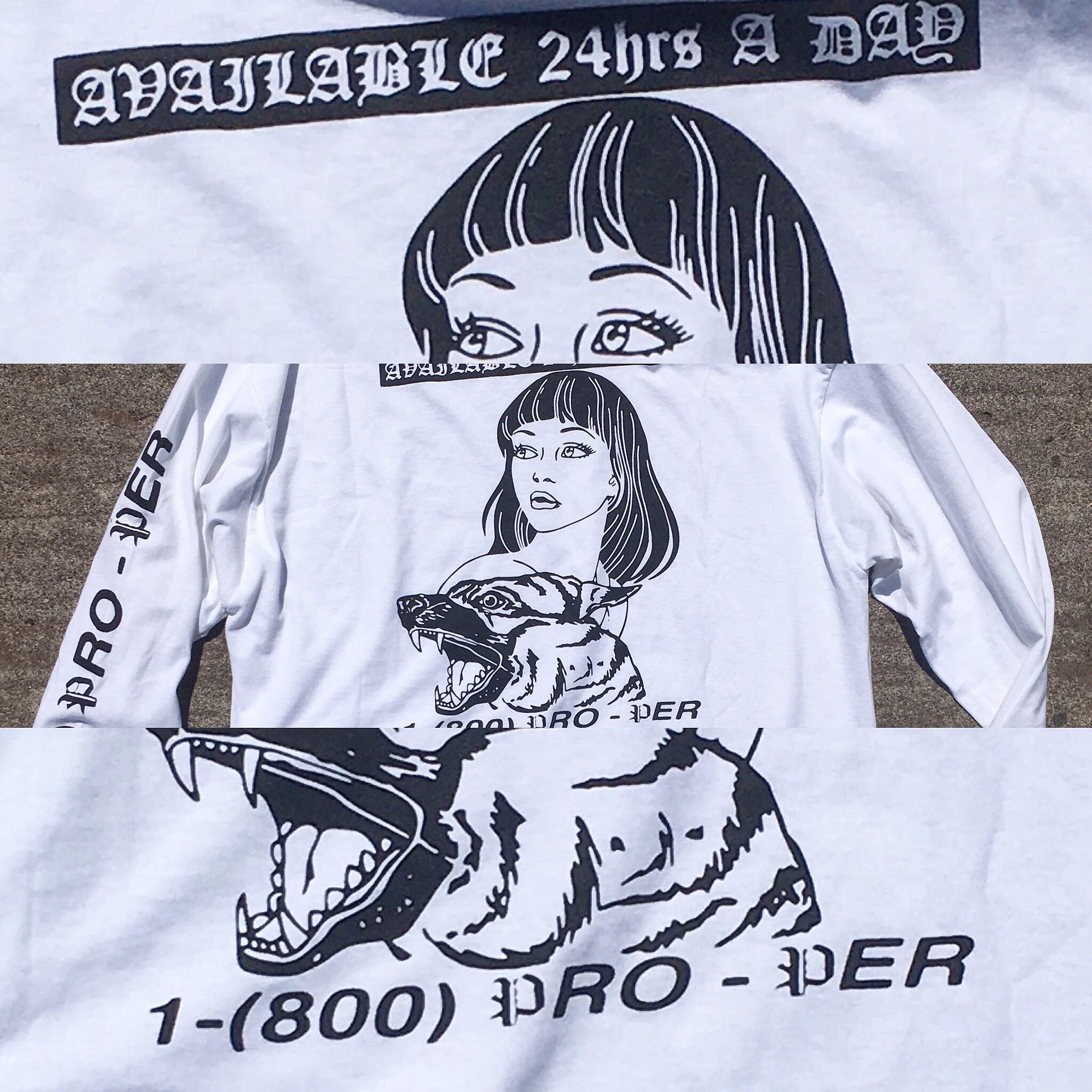 Mary Junk LS T - White/Black - Proper Skateboarding