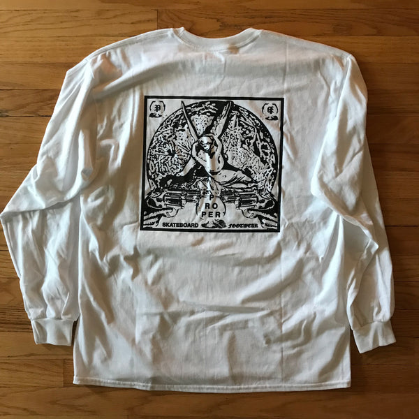 Moon LS T - White/Black - Proper Skateboarding