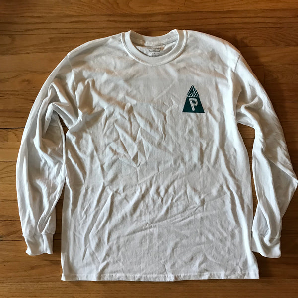 New Dimensions LS T - White/Teal - Proper Skateboarding