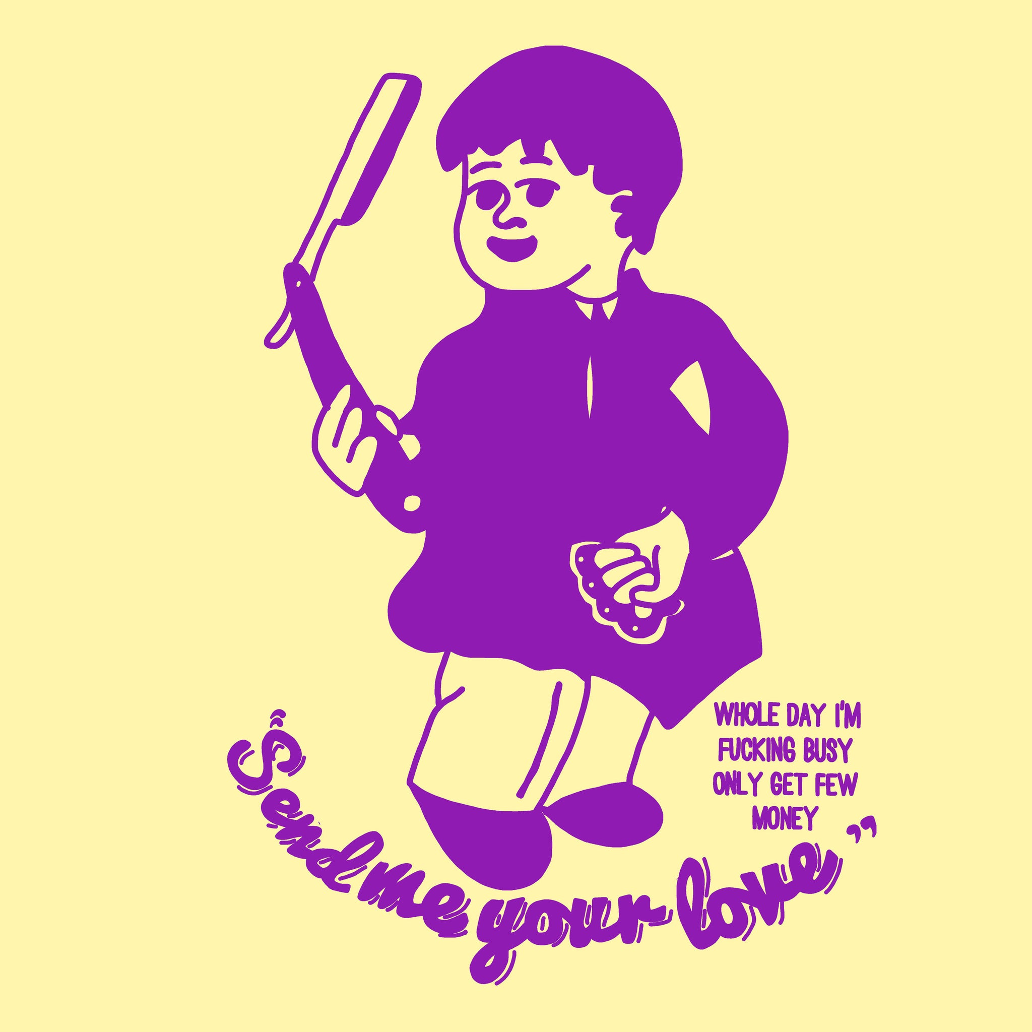 Proper Lefty T - Yellow/Purple