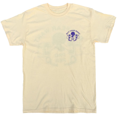 Buy Fear Want Tee - Pale Yellow - Proper Skateboarding