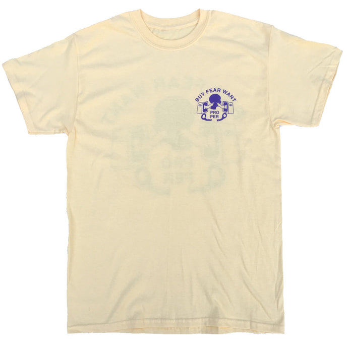 Buy Fear Want Tee - Pale Yellow