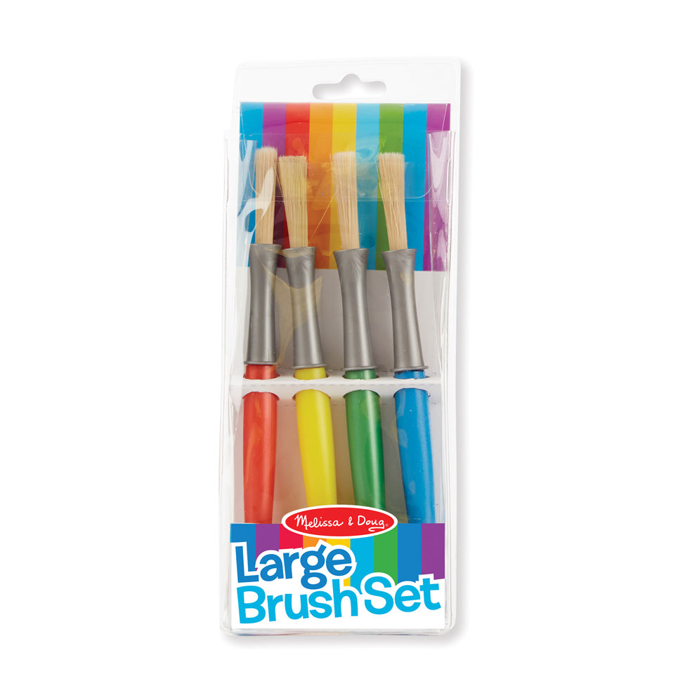 Melissa & Doug Large Paint Brush Set 4 Pack