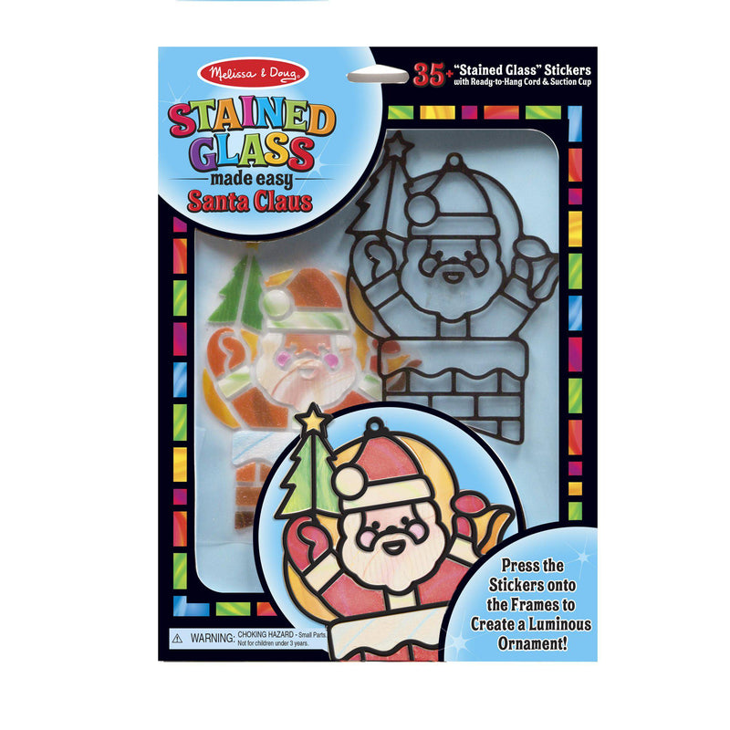 Melissa & Doug Stained Glass Made Easy - Santa Claus