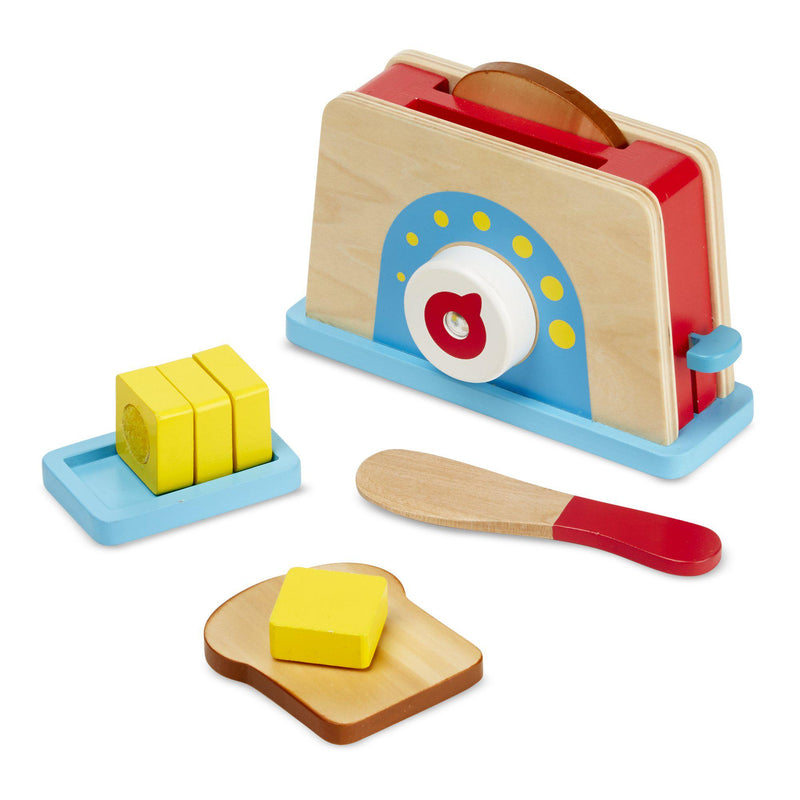 Melissa & Doug Play Food - Bread & Butter Toast Set