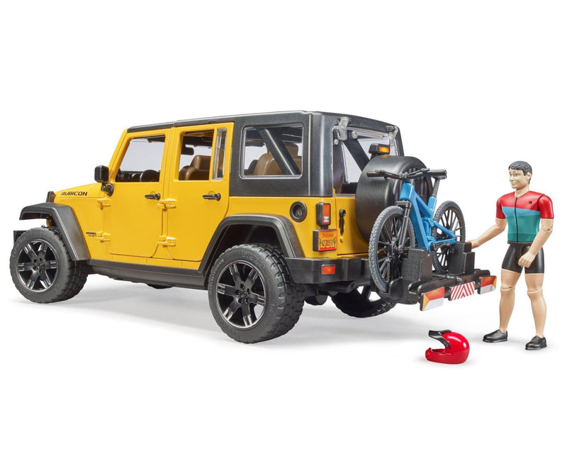 Bruder Jeep Wrangler Rubicon w/ Mountain Bike & Figure