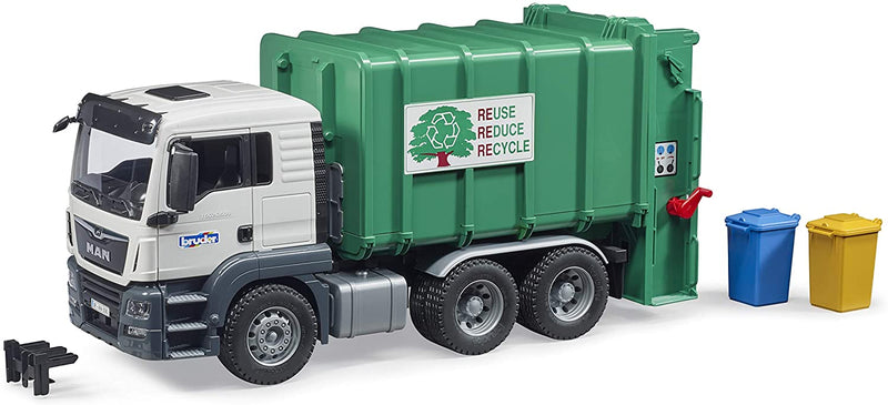 Bruder MAN TGS Rear Loading Garbage Truck