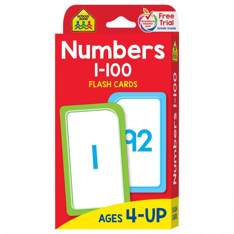 School Zone Educational Flash Cards - Numbers 1-100