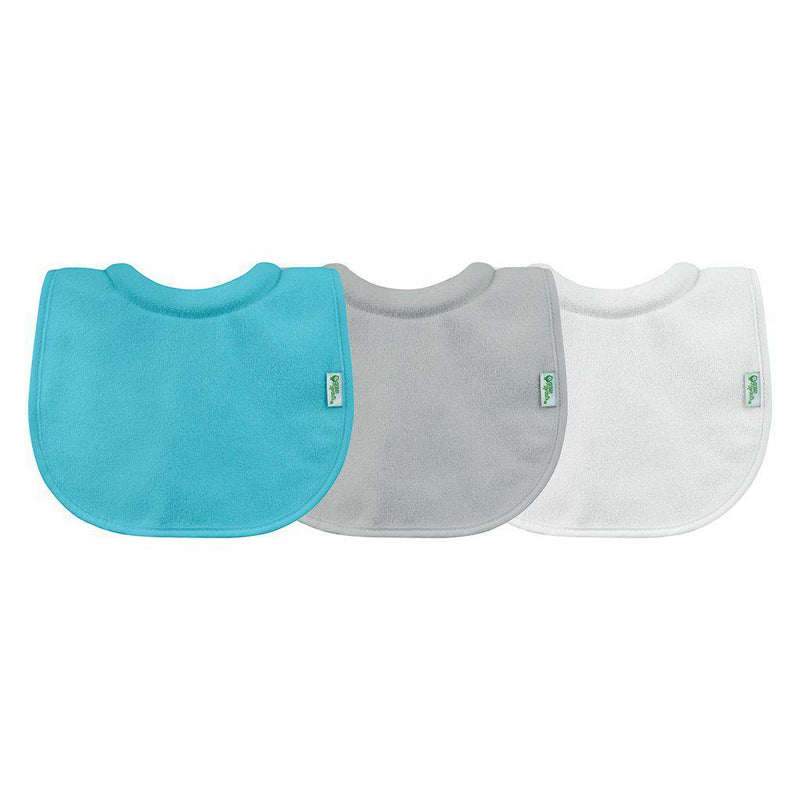 Green Sprouts Stay-Dry Milk-Catcher Bib 3pk - Aqua