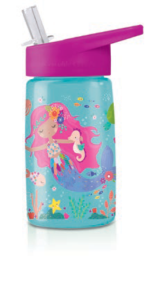 Crocodile Creek Tritan Kids Water Bottle - Mermaid