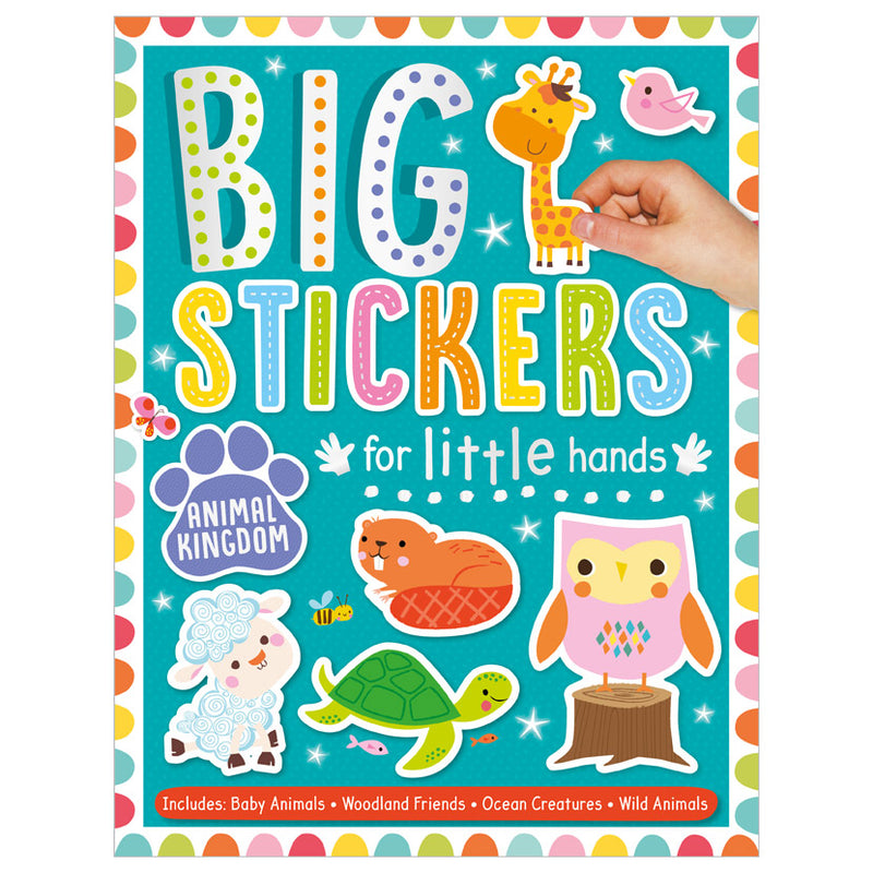 Activity Sticker Book - Big Stickers For Little Hands - Teal
