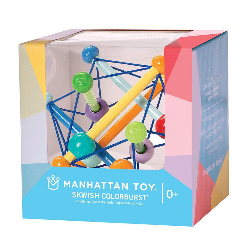 Manhattan Toys Skwish Wooden Baby Toy - Colour Burst