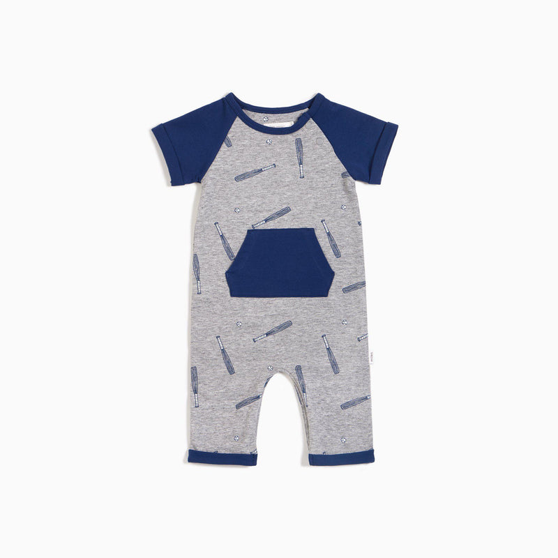 Miles Baby Romper - Batter Up Print