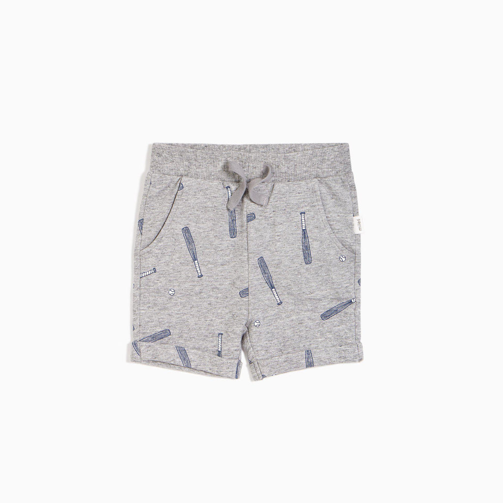 Miles Baby Shorts - Batter Up Print