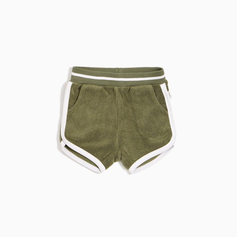 Miles Baby Terry Shorts - Forest