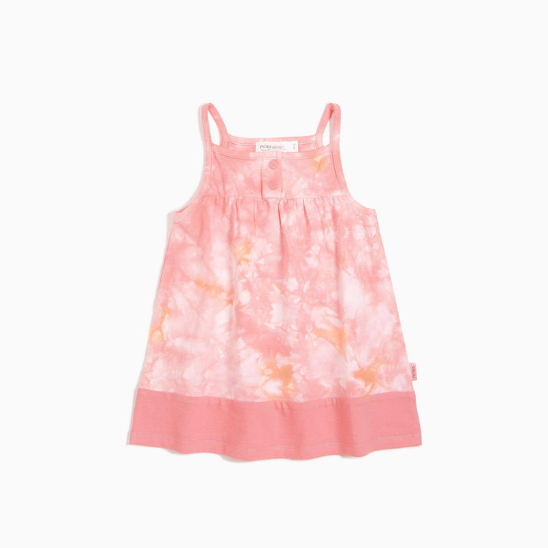 Miles Baby Dress - Melon Tie-Dye Cami