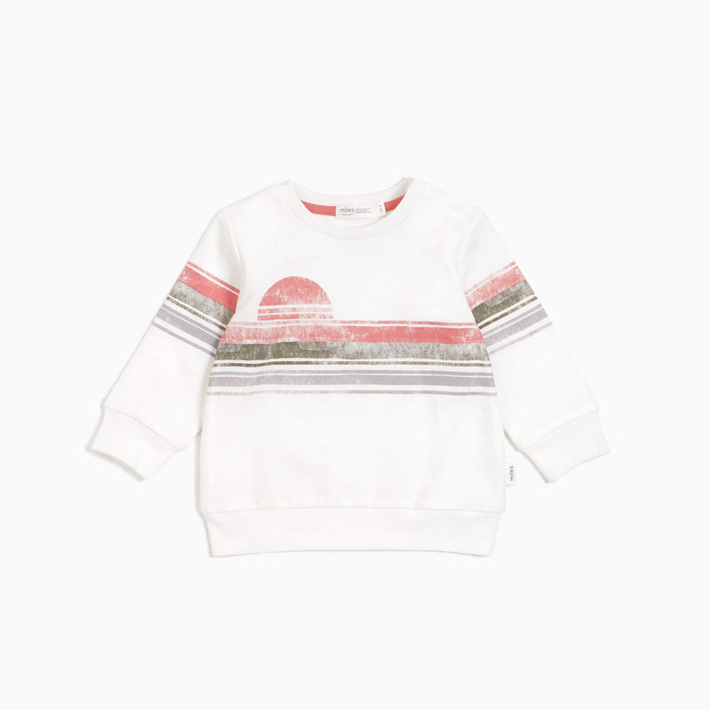 Miles Baby Sweatshirt - Lakeview - Off White