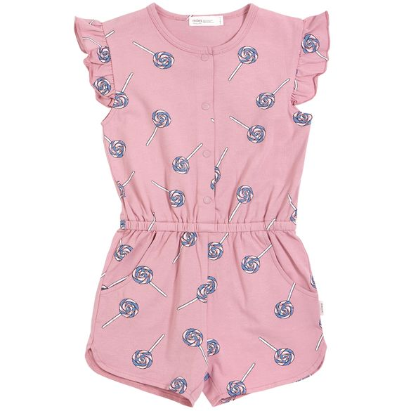 Miles Baby Romper Dress - Purple Candies