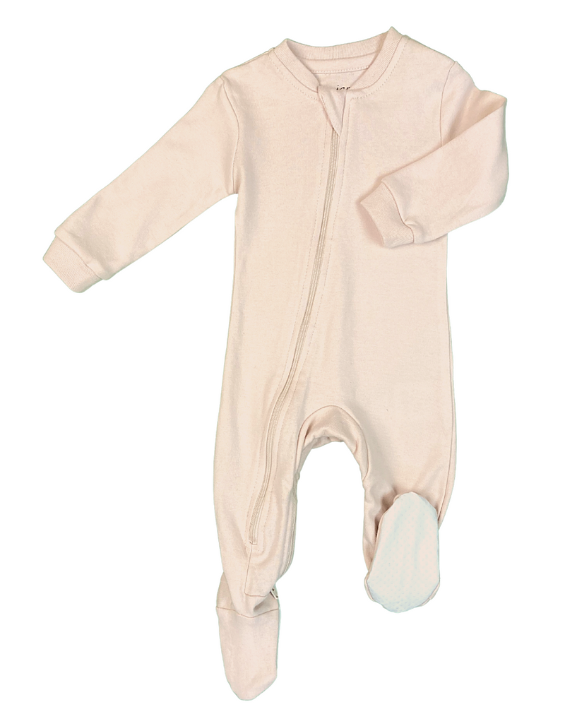 ZippyJamz Footed Coverall - Crystal Blush