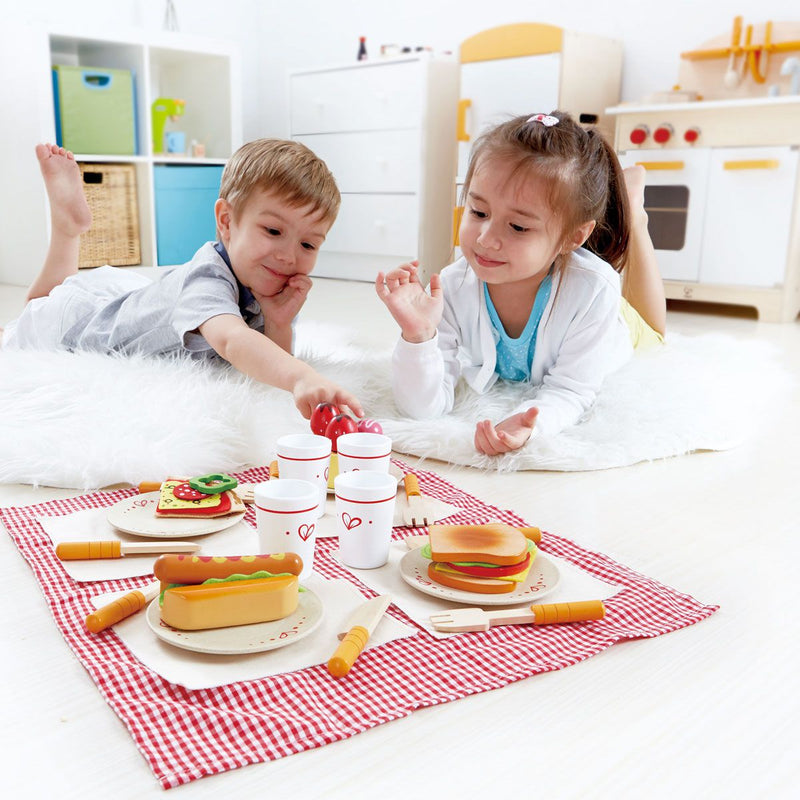 Hape Velcro Play Food - Lunch Time Set