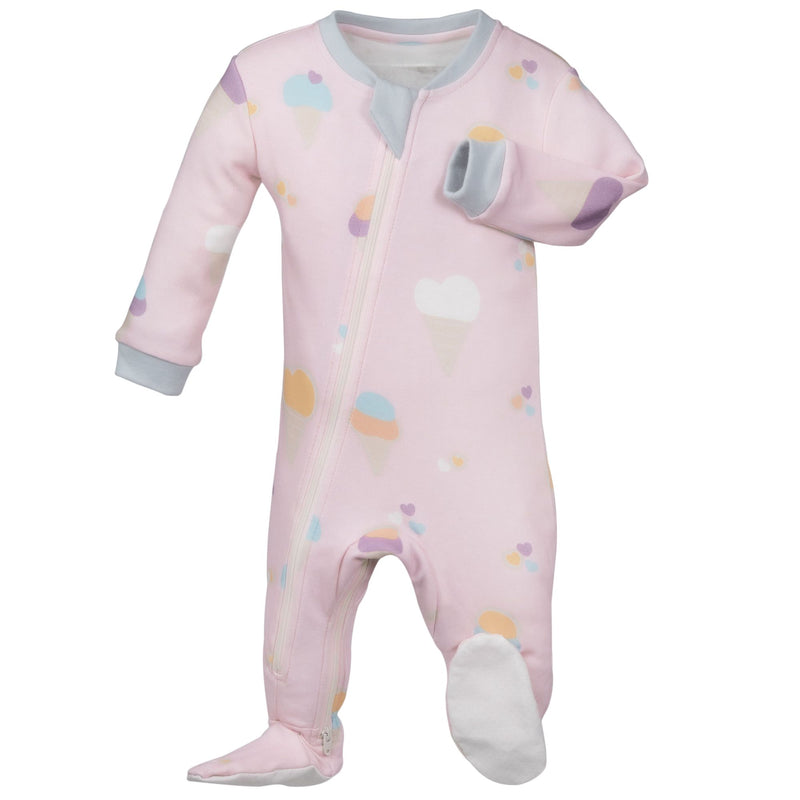 ZippyJamz Footed Coverall - Sweet Scoops