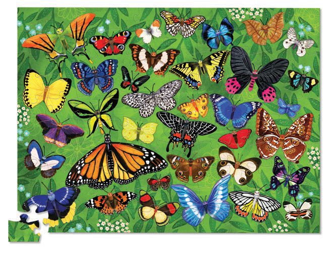 Crocodile Creek Puzzle - Canister 100pc Butterflies