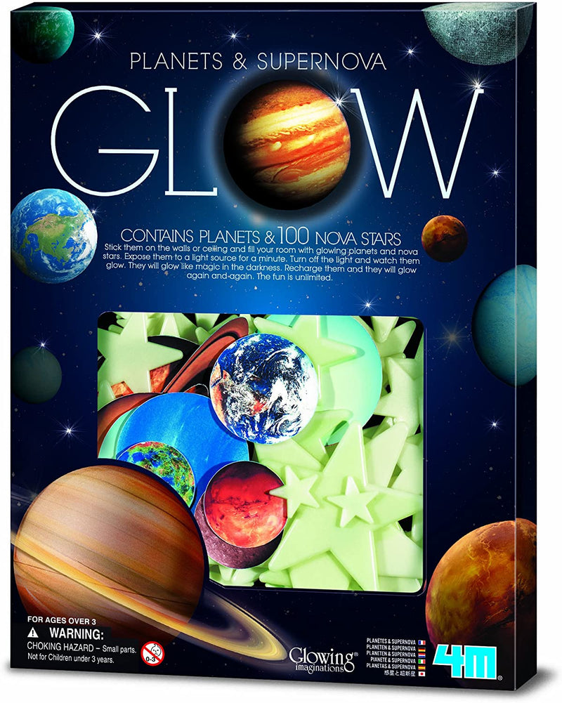 4M Glow in the Dark Planets and Supernova - 100pcs