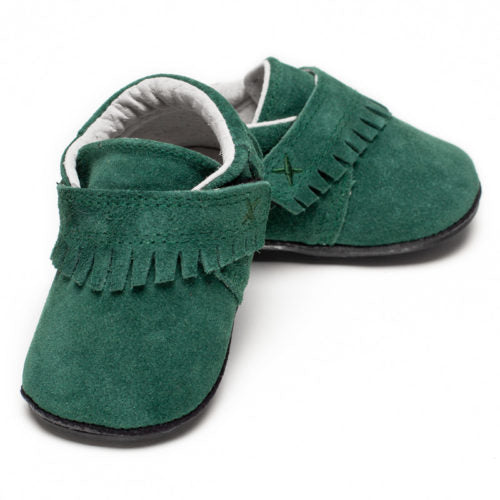 Jack & Lily My Mocs - Marley Fringe - Suede Evergreen - 6-12M