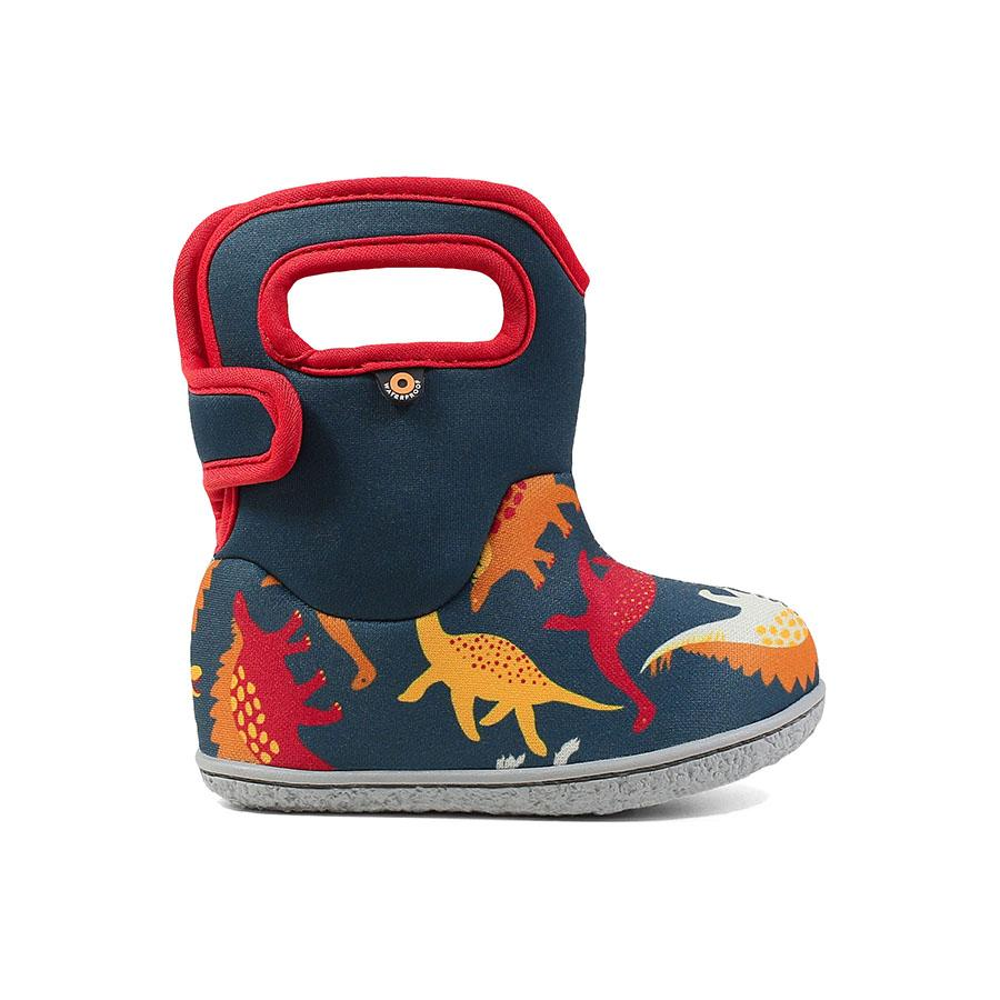 Bogs Winter Boots - Baby Bogs - Dino - Indigo/Red