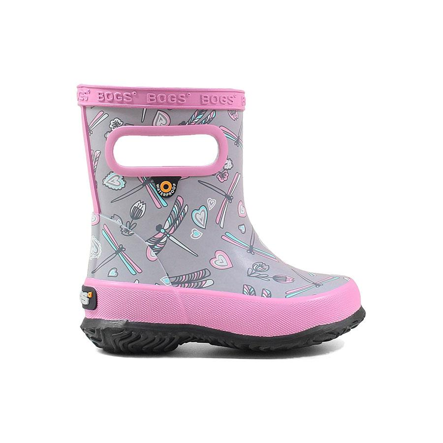 Bogs Rain Boots - Baby Skipper - Dragonfly Pink/Grey