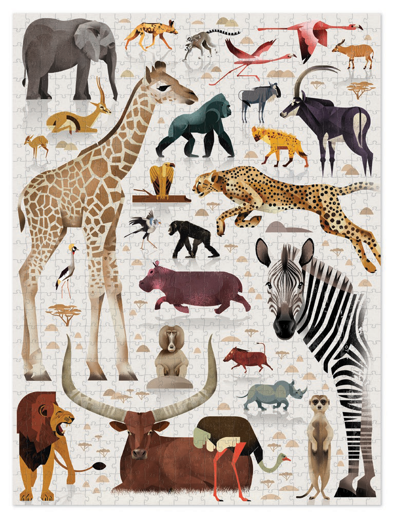 Crocodile Creek Puzzle - World Of Animals 750pc African Animals