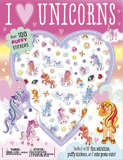 Activity Sticker Book - I Love Unicorns Puffy