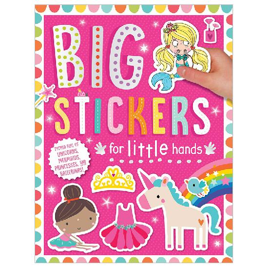 Activity Sticker Book - Big Stickers For Little Hands - Pink