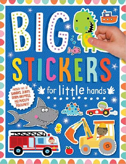 Activity Sticker Book - Big Stickers For Little Hands - Blue