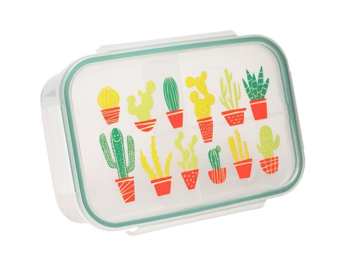 ORE Good Lunch Bento Box Divided Container - Happy Cactus